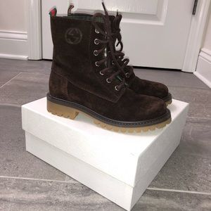 Boys Authentic Gucci Boots, Size 13.5